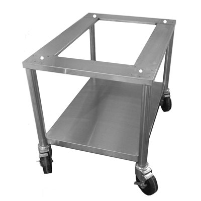 """STAND 24""""H STAINL. STEEL W / LOCKING CASTERS(CG3018)"""
